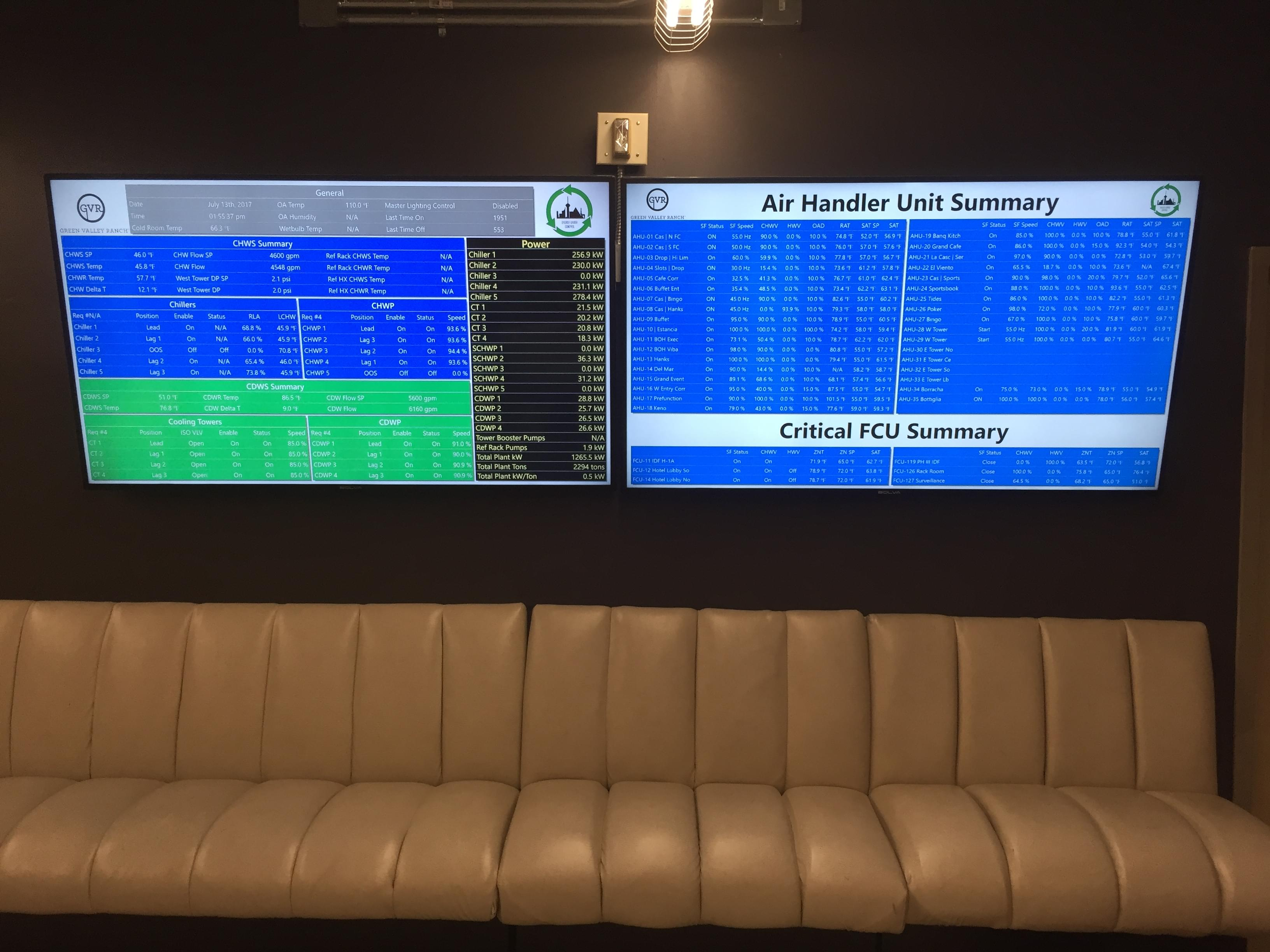 AOG Online 4k Displays at Green Valley Ranch